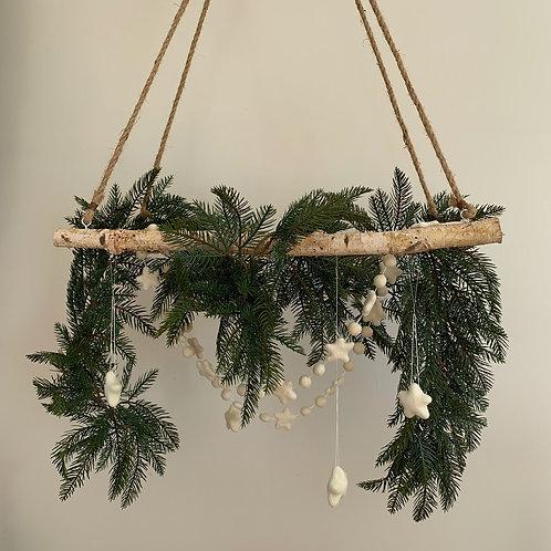 Birch Decorative Hanging Ladder
