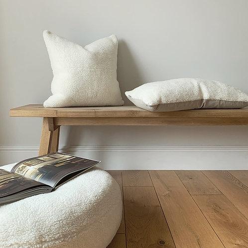 Off-White Sheepskin Square Cushion