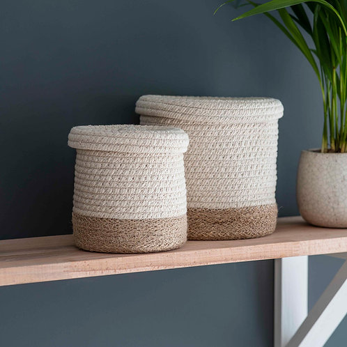 Natural Jute Storage Basket - Mini