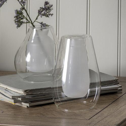 White Glass Vase - Small