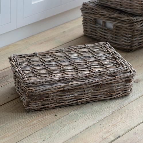 Rattan Storage Basket with Lid