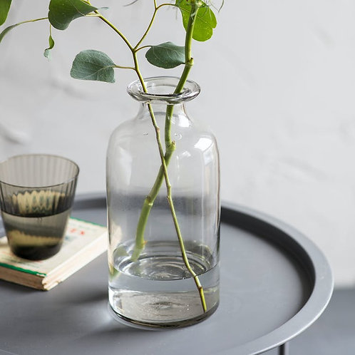 Clear Recycled Glass Vase - Tall