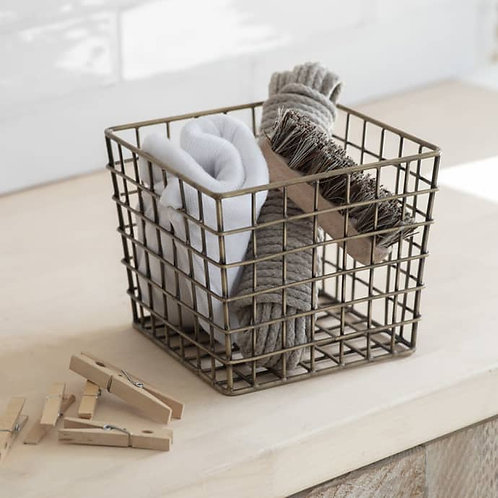 Antique Brass Utility Basket
