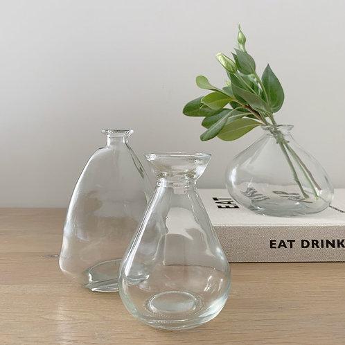 Set of 3 Mini Glass Vases