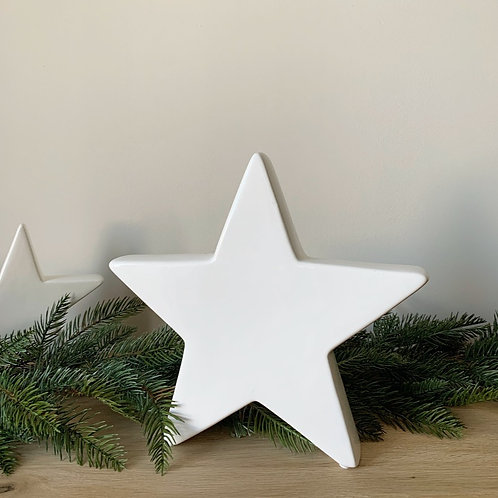 White Ceramic Star - Large