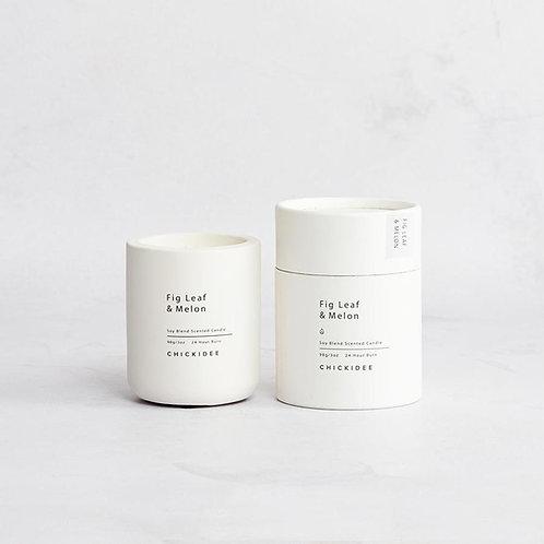 Fig & Melon Mini Concrete Candle