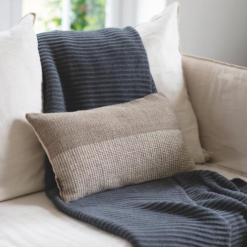 Natural Two Tone Wool Cushion