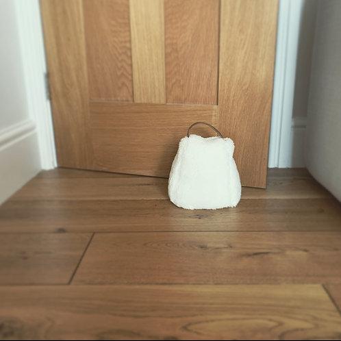 Off-White Sheepskin Doorstop