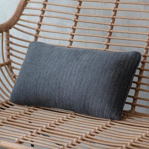 Dark Grey Cotton Cushion