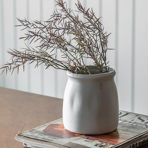 Off-White Ceramic Vase