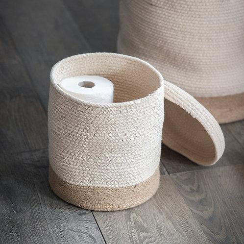 Natural Jute Storage Basket - Medium