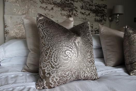 Boutique Velvet Cushions - Guest Bedroom