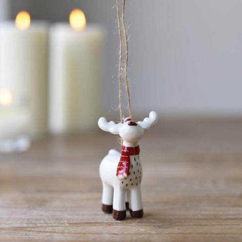 Ceramic Reindeer Bauble