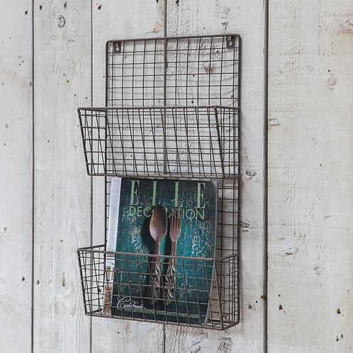 Wire Wall Magazine Rack