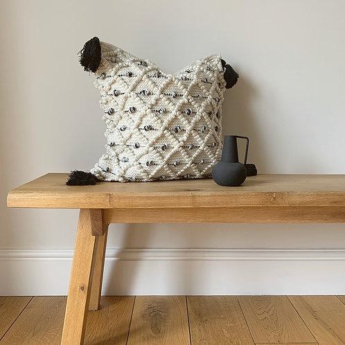 Black & Cream Diamond Pattern Cushion