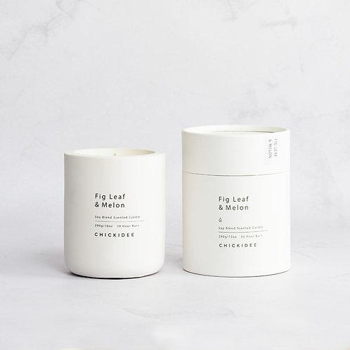 Fig & Melon Concrete Candle