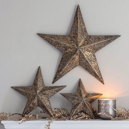 Antique Brass Star - Large