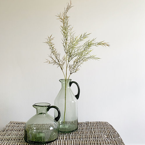 Olive Green Glass with Handle - Small