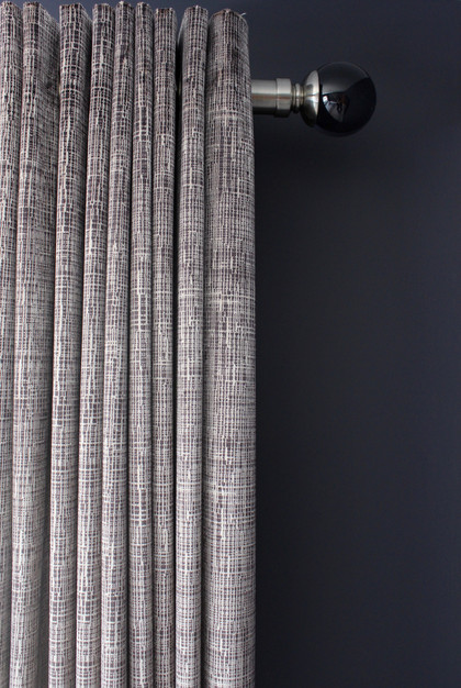 Eyelet Curtains with Smokey Ball Finial
