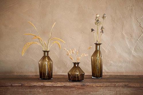Brown Glass Asymmetric Vase