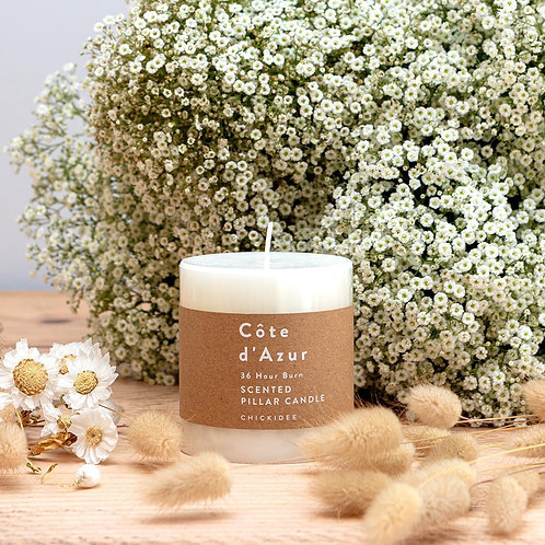 White Pillar Candle - Small