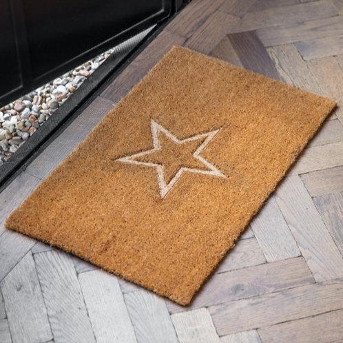 Embossed Star Doormat - Small