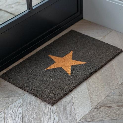 Charcoal Star Doormat - Large