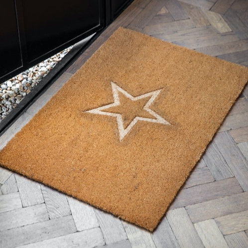 Embossed Star Doormat - Large