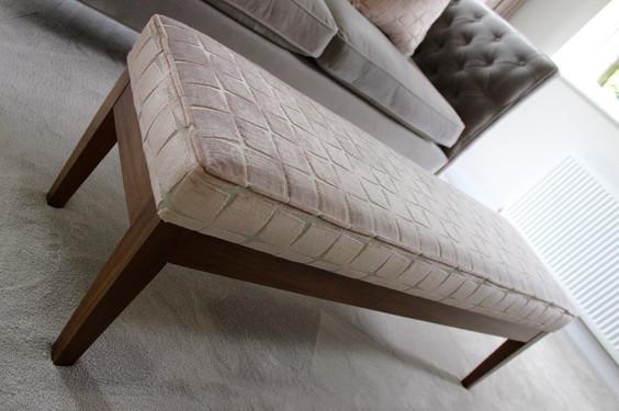 Bespoke Upholstered Bench - Luxurious Sitting Room