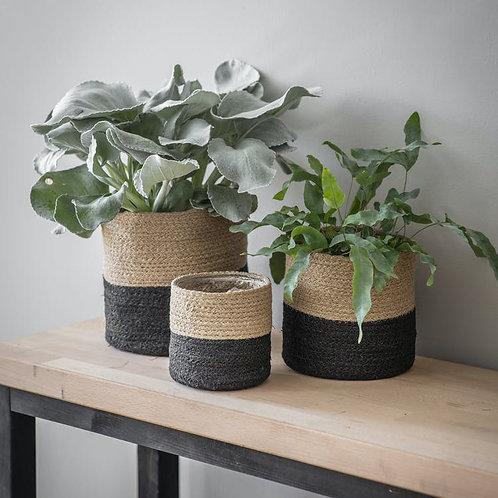 Natural & Black Jute Planter