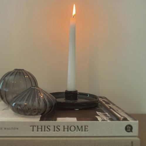 Grey Ceramic Candle Holder