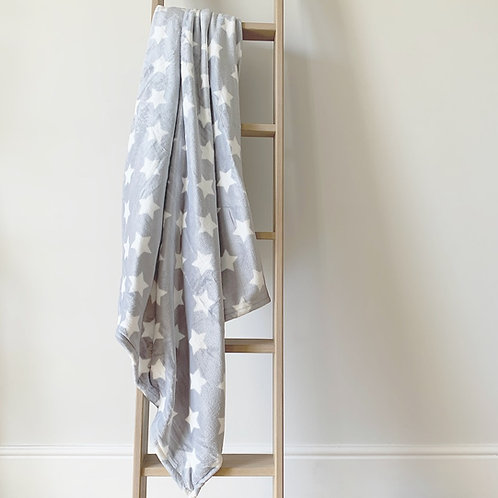 Grey Star Fleece Blanket
