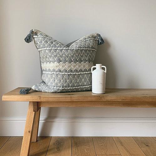 Grey & Cream Geometric Cushion
