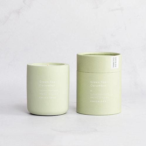 Green Tea & Cucumber Mini Concrete Candle
