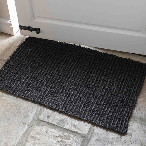 Black Jute Doormat