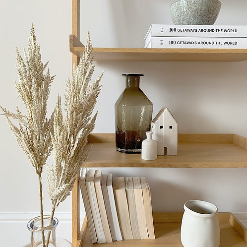 Off-White Wooden House Decoration
