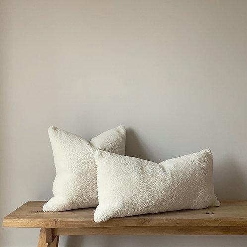 Off-White Sheepskin Long Cushion