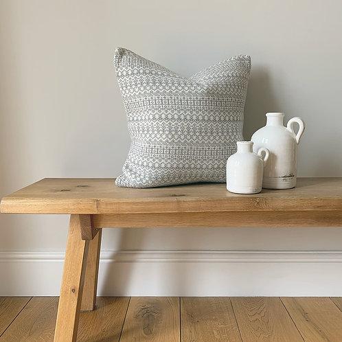 Grey Knitted Fairisle Cushion