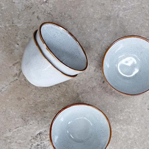 Ceramic Tapas Bowl Pale Grey