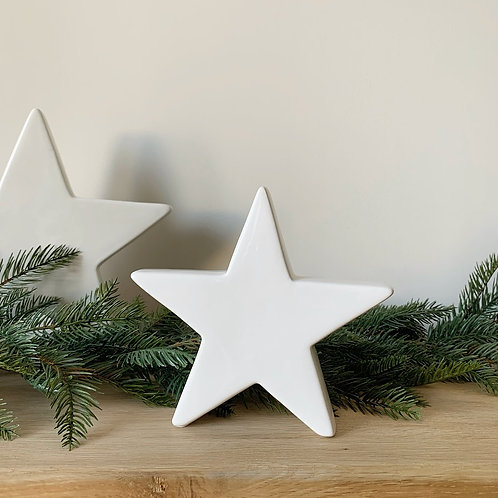 White Ceramic Star - Small