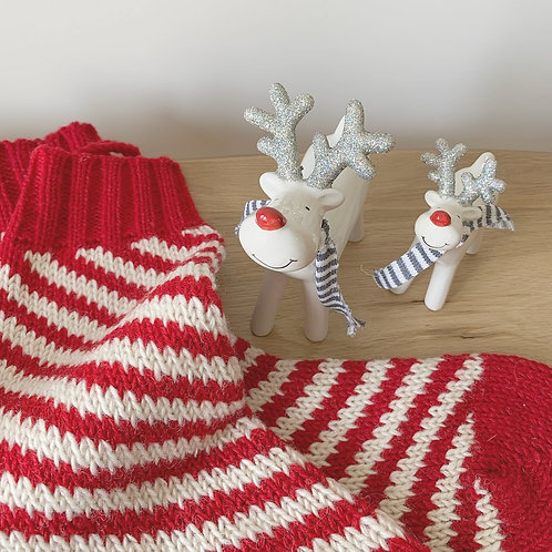 Ceramic Reindeer Decoration with Silver Glittery Antlers - Small