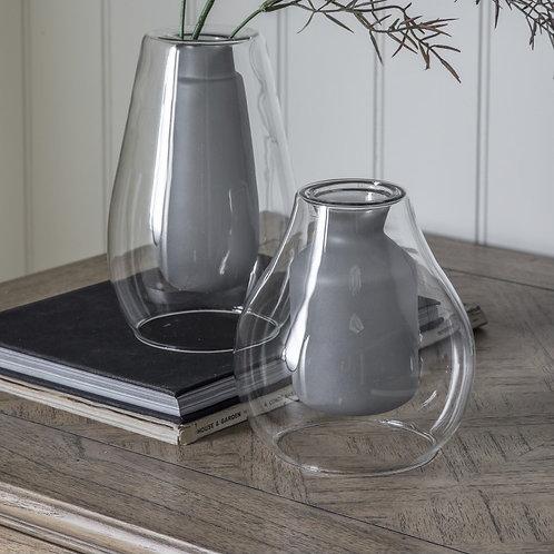 Grey Glass Vase - Small