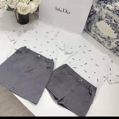 White print T-SHIRTS