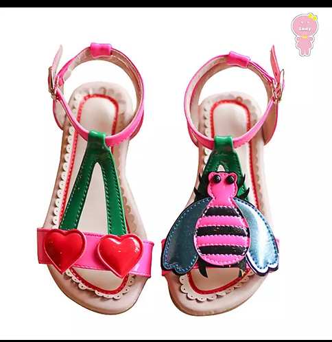 Cherries and bees sandals