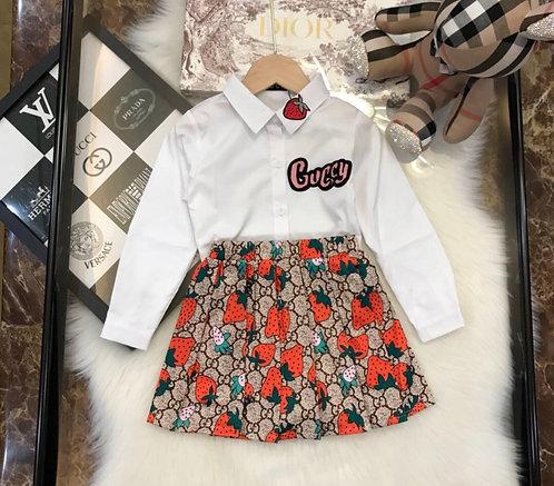 Strawberry short skirt set