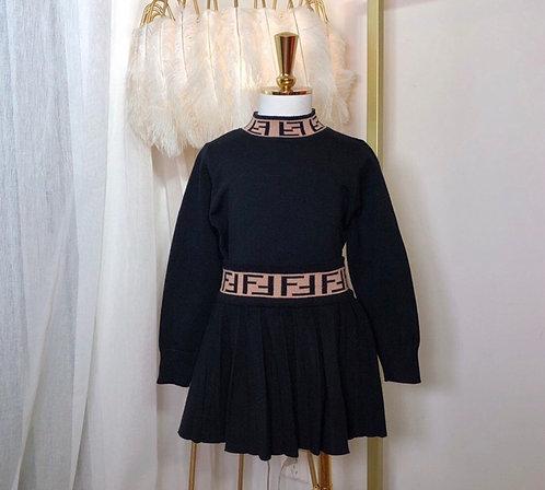 FF plain skirt suit