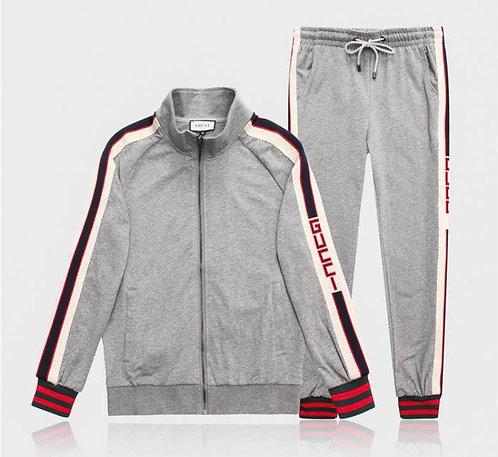 Grey strip suit