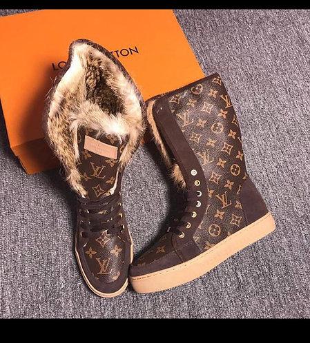 LV fur boots