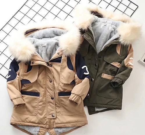 Chanel fur hoodie jacket