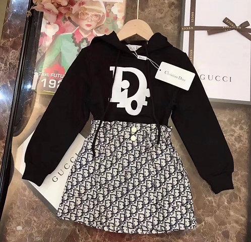 Dior hoodie and skirt